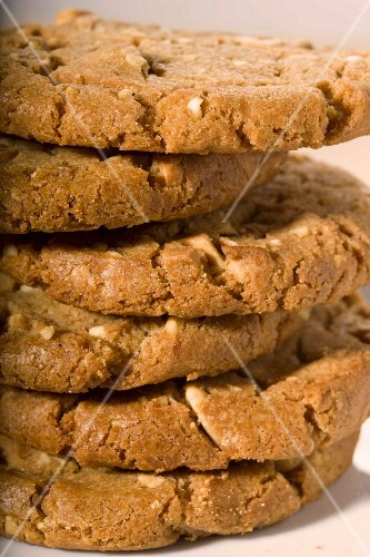 A stack of nut biscuits