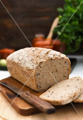 Gluten-free, vegan sourdough bread, sliced