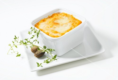 Pumpkin bake with cheddar cheese