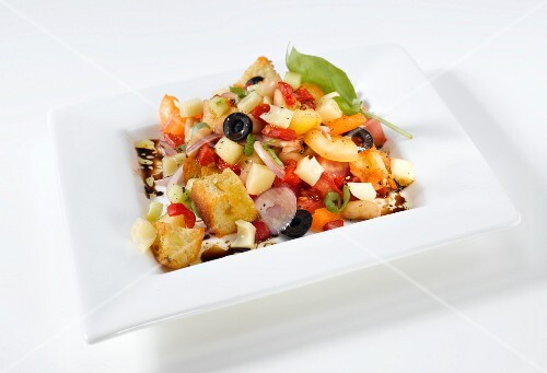 A Greek salad with couscous