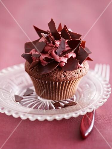 A port wine cupcake