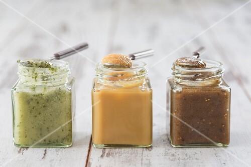 Various honey spreads