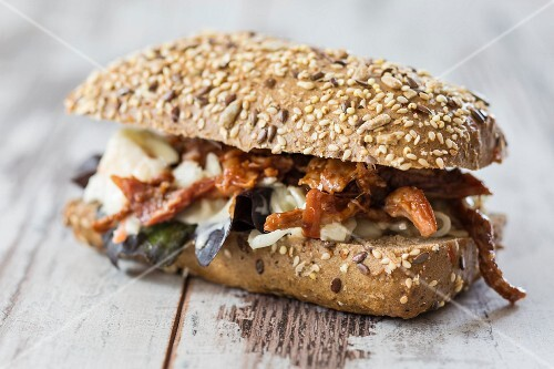 A pulled pork sandwich