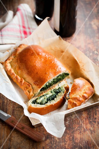 Quinoa and spinach strudel