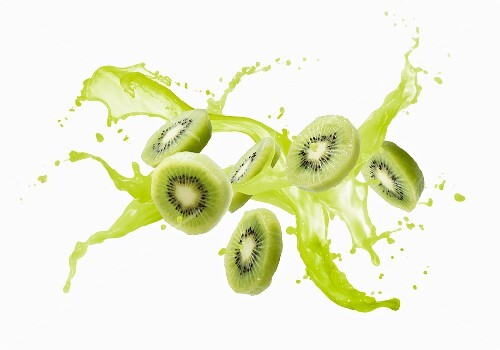 Kiwis and a splash of juice