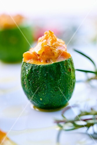 Stuffed courgettes ( topic : Aurélie's menues)