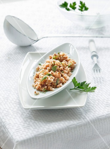 Buckwheat grits with parsley