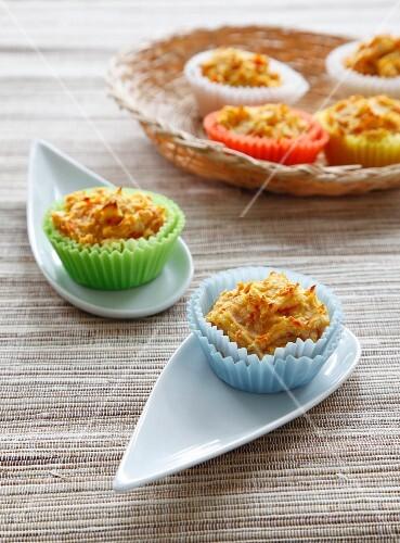 Potato and pumpkin muffins