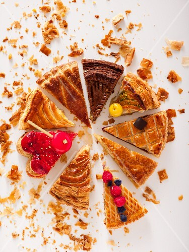 Various slices of Galette De Rois