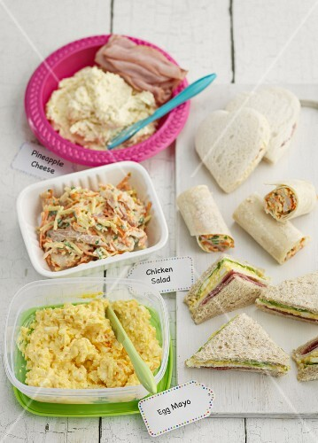 Various sandwiches and salads