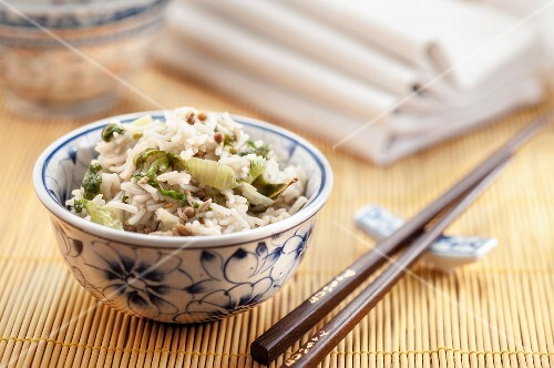 Rice with Savoy cabbage