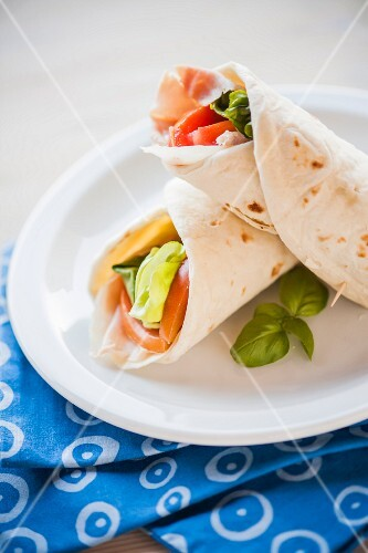 Piadina (grilled, stuffed unleavened bread, Italy)
