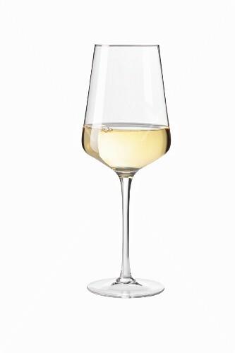 White wine in a glass