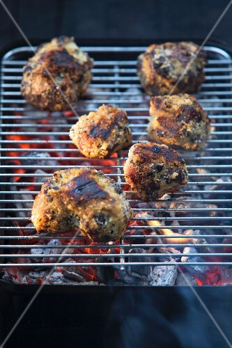 Breaded grilled oxtails