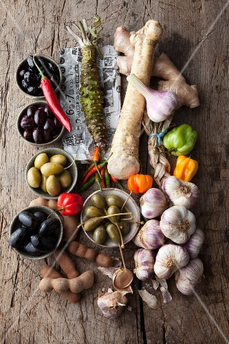 An arrangement of various spices for vegan cuisine
