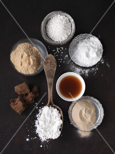 Ingredients for baking and binding vegetarian food