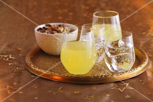 Orangeade and lemonade
