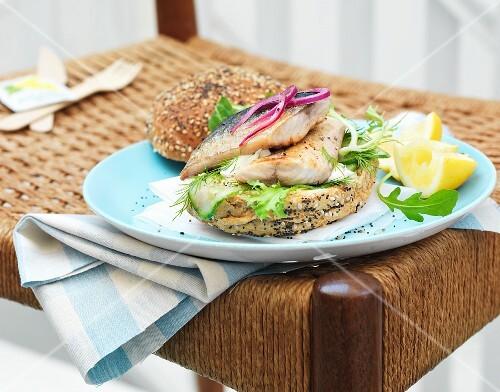 Makrelen-Burger