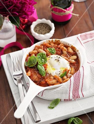 Huevos rancheros with beans (Mexico)
