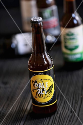 A bottle of pale ale (craft beer from an artisan brewery)