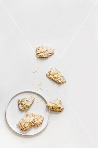 Lemon and poppy seed scones