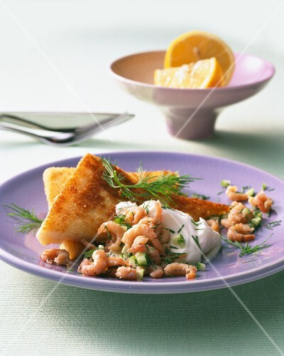 French toast with shrimps