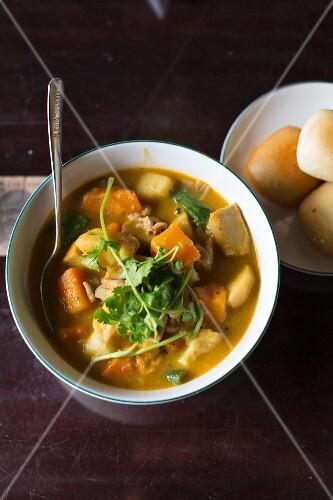 Vegetarian pumpkin curry from Vietnam