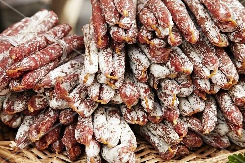 Fuet (thin, air-dried sausage, Catalonia, Spain)
