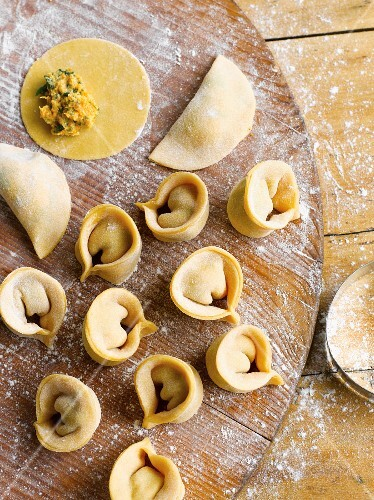 Homemade tortellini as a gift