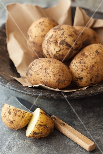 Organic Spunta potatoes from Italy