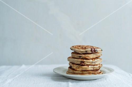 Gestapelte Pancakes