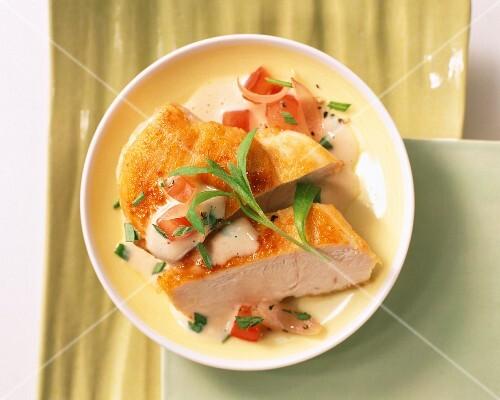 Chicken breast with tarragon cream