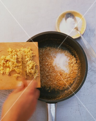 Caramelised sugar with ginger