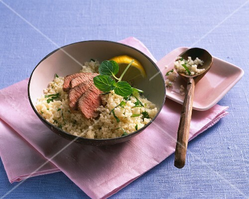 Herb couscous with lamb