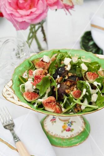 Fig, rocket and walnut salad