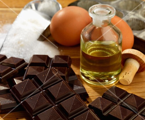 Ingredients for dark mint chocolate
