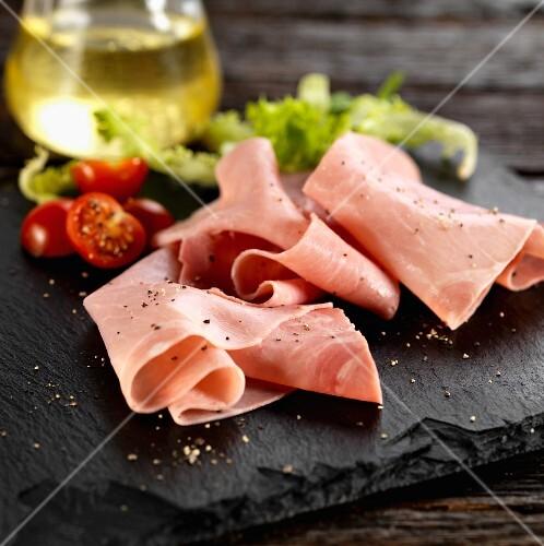 Venetian ham with salad