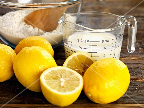 Ingredients for lemon tart