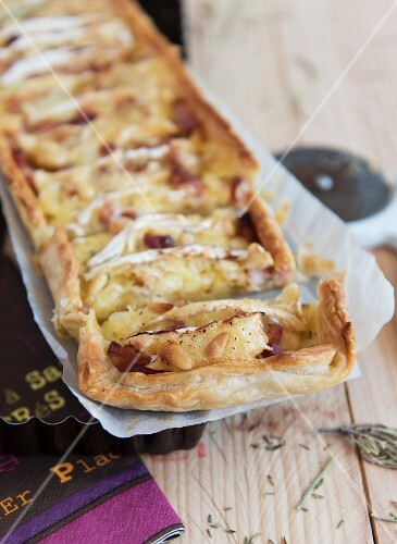 Apple and camembert tart