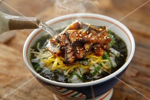 Hitsumabushi (grilled eel on rice, Japan)