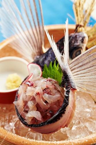 Flying fish sashimi (Japan)