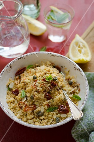 Couscous with capers and dried tomatoes