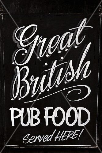 A sign outside a British pub (Yorkshire, England)