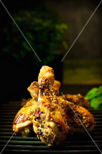 Drumsticks with a mustard crust
