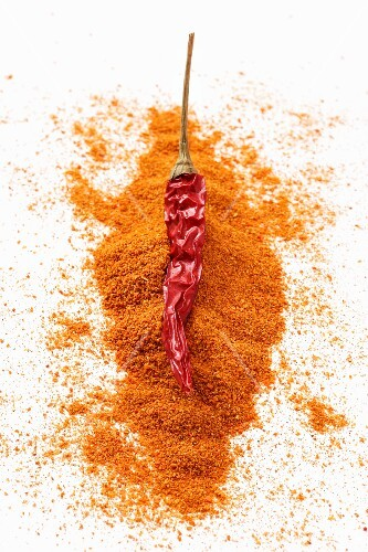 Cayenne pepper and dried chilli peppers
