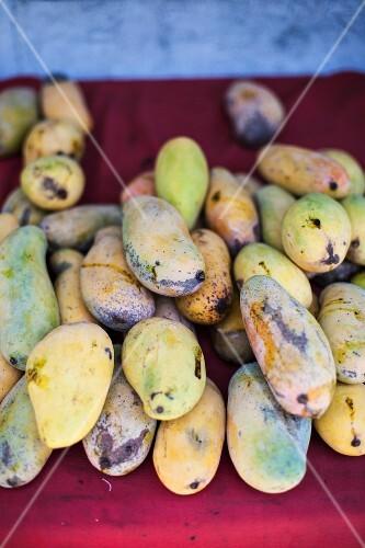 Thai mangos on a market stall