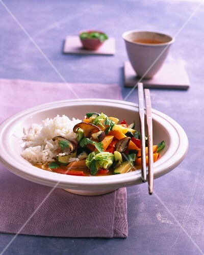 Vietnamese vegetables with rice