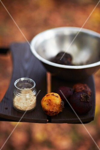 Grilled mangosteens