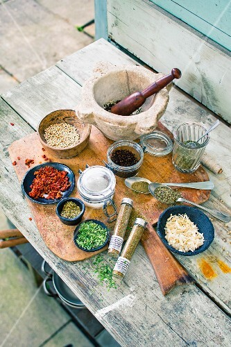 Herbs and spices for marinades