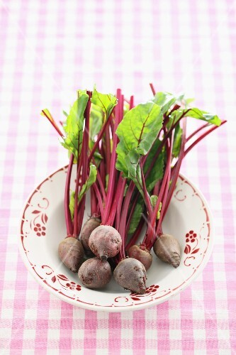 Fresh beetroots on a plate